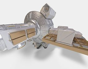 Quest Airlock module on ISS 3D model