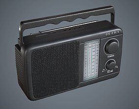 3D asset Radio Black