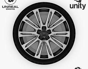 3D asset Wheel Steel-Chrome Alloy Rim Audi 19 4