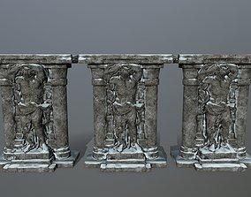 3D asset VR / AR ready statue 2