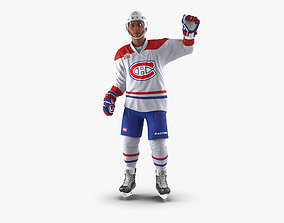 Hockey Player Montreal Canadiens Rigged for Maya 3D model