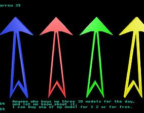 3D asset Low poly arrow 39