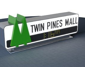 mall TWIN PINES MALL Sign 3D print 200mm