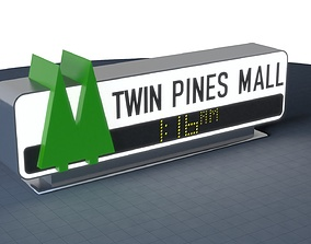 TWIN PINES MALL Sign 3D print 200mm marty
