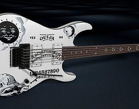 3D model Kirk Hammett - EPS Ouija Guitar White