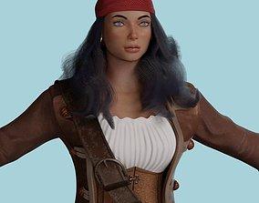 Female Pirate 3D asset