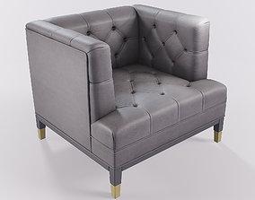 Velvet Sofa Armchair 3D asset