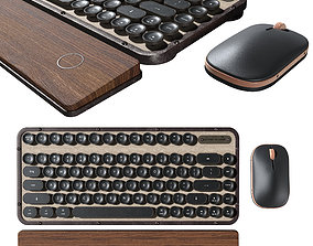 Retro Keyboard and mouse 3D retro