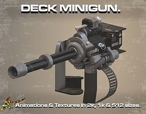 Deck Minigun 3D asset