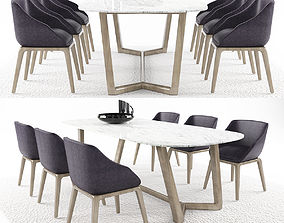 Dinning table set 8 3D