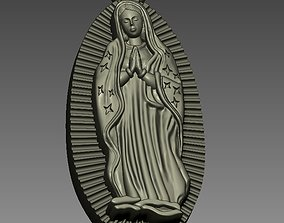 3D print model anatomy Virgin of Guadalupe Figure