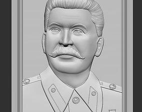 3D print model Stalin relief