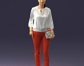 Woman in the orange pants 0305 3D