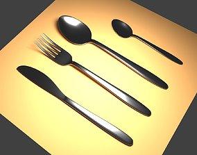 kitchenware restaurant Cutlery 3D