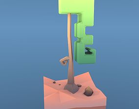 3D model Low Poly Tree - The Curly Tree