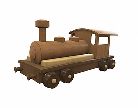 Wooden train locomotive toy 6 3D game