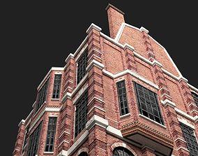 3D asset Victorian Brick Building Kit