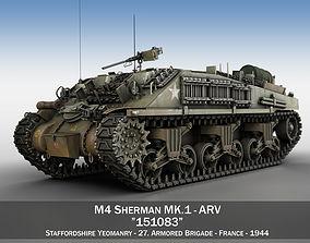 M4 Sherman ARV MK I - 151083 armored 3D
