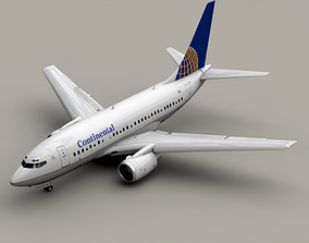 3D Boeing 737-600 Continental Airlines