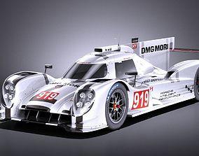 Porsche 919 Hybrid 2016 VRAY 3D