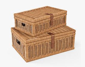 Wicker Basket 6 Toasted Oat Color 3D