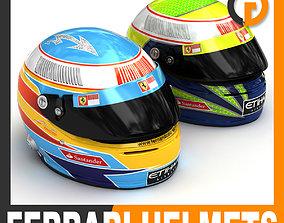 3D model Helmet F1 2010 Fernando Alonso and Felipe Massa
