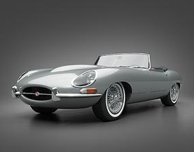3D model 1961 Jaguar E-Type 3 8 Roadster