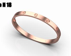 3D print model Love bracelet size 18