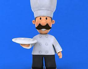 3D model Fun cartoon Chef
