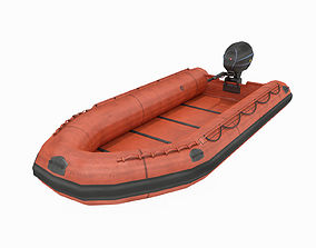 3D asset realtime Inflatable Boat - Lifeboat