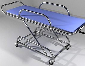 Hospital Furniture Stretcher 3D model