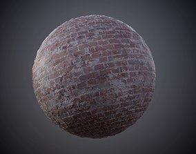 3D Brick Wall Grunge Seamless PBR Texture