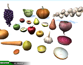 Lowpoly Fruits And Vegetables Collection VR / AR ready 2