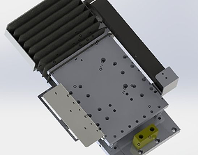 The gear and rack drives the manipulator 3D automatic