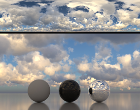 3D model Skydome HDR - Overcast Cloudy Afternoon - 1