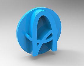 Alphabet stamp plus fondant cutter 3D printable model 1