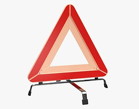 Emergency car sign 3D model