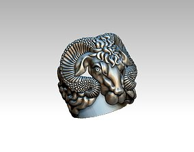 3D print model ring with Aries at GUCCI