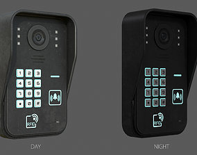 3D asset RFID Door Intercom with cam