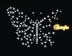 Butterflies Wall decor 3D model