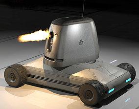 Mobil Drone Gunner 3D asset