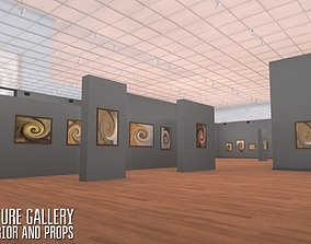 Picture gallery - interior and props 3D model