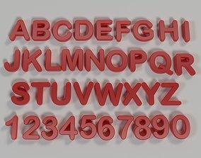3D print model Alphabet