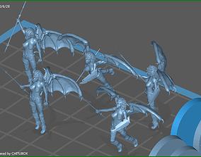 Dark Elf Harpy group 3D printable model