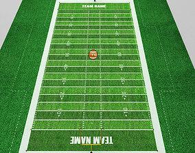 3D model Football american stadium field low poly