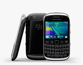 BlackBerry Curve 9320 Piano Black 3D asset
