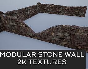 Modular Stone Walls 3D asset