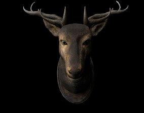 game-ready 3D deer head model