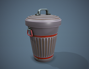 Stylized Trash Can - Tutorial Included 3D model