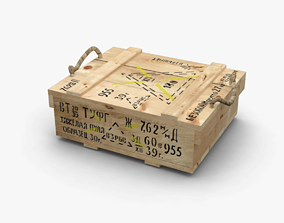 weapon Wooden Crate 3D asset realtime